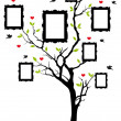Family tree with frames, vector - Stockvectorbeeld