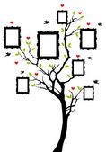 árbol genealógico con marcos, vector — Vector de stock