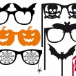 Stock Vector: Halloween booth props, vector