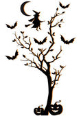 Cadılar bayramı ağaç, vektör arka plan — Stok Vektör