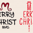 Hand written Christmas card, vector - 