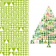 Christmas tree and pattern, vector - Stok Vektr