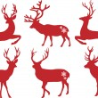 Cтоковый вектор: Christmas deer stags, vector set
