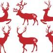 Vánoce jelen jeleni, vektorové sada — Stock vektor