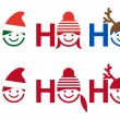 Ho ho ho Christmas card, vector - Stock Vector