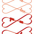 Heart shaped infinity sign, vector - Imagen vectorial