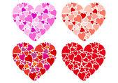 Diseño de corazón, conjunto de vectores — Vector de stock