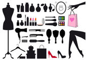 Fashion and beauty, vector set — Stock Vector