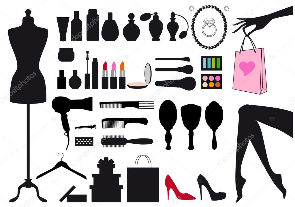 Fashion And Beauty Vector Set Stock Vector Beaubelle 23702943