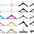 Clothes hanger, vector set — Vektorgrafik