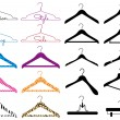 Clothes hanger, vector set — Stock Vector