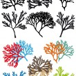 Corals reefs, vector set — Stock Vector