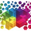 Abstract cube background — Imagen vectorial