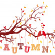 Autumn tree branch, vector  — Image vectorielle