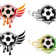 Grungy football with wings — Stock Vector #3353814