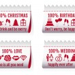 Fabric tags for cards, vector set — Image vectorielle