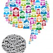 Stock Vector: Speech bubble with people icons, vector