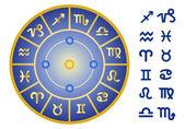 Signes du zodiaque, icon set vector — Vecteur