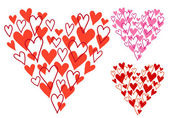 Hand drawn heart, vector — Wektor stockowy