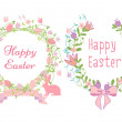 Happy Easter cards, vector — Vettoriale Stock