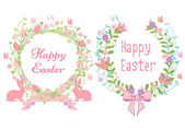 Happy Easter cards, vector — Stock Vector