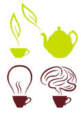 Coffee and tea, vector set — Stock Vector