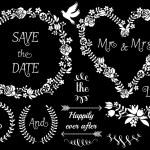 Floral wedding frames, vector set — Stock Vector #46673071