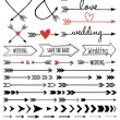 Hand-drawn arrows, vector set — Stock Vector #46713939