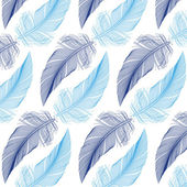 Feather seamless pattern, vector — Stock Vector