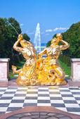 Russia, Saint-Petersburg, Pertergof, Grand cascade — Stock Photo