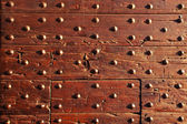 Old wood wall with nails — Stock Photo