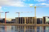 Construction near the water — Stock Photo