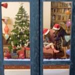 Chrismas window — Stock Photo #1337328