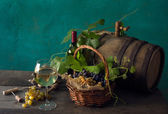 Still life with blank wine — Stock Photo
