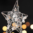 Festive Christmas star decoration — Stock Photo