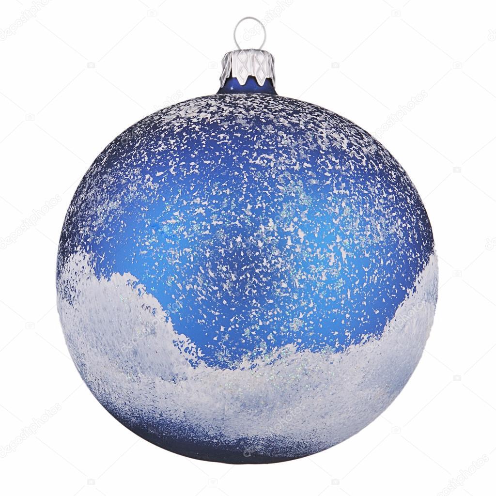 孤立在白色背景上的深蓝色彩绘的圣诞球 — 照片作者 alrisha
