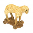 Straw and wood shaving toy lamb — Stock Photo