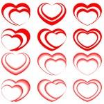 Vector hearts — Stock Vector #8380437