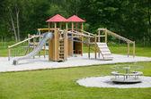 Wooden children's playground — Zdjęcie stockowe