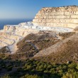 Chalk quarry on the island of Crete - Stock Photo