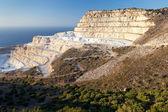 Chalk quarry on the island of Crete — Stock Photo