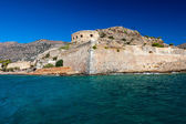 The island-fortress of Spinalonga in Crete — Stock fotografie