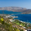 Bay of Elounda in Crete - Stockfoto