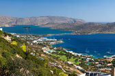 Bay of Elounda in Crete — Stock Photo