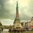 Постер, плакат: Fountain in honor of Jules Anspach Brussels Belgium