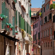 Small cafe on steet in Venice, Italy - Stock Photo