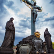 Statue on Charles Bridge in Prague, Czech Republic — Stockfoto #22012677