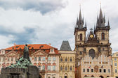 View of Tyn Church in Prague — Stock Photo