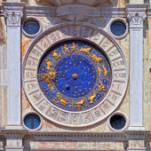 Zodiac clock at San Marco square in Venice — Stok fotoğraf