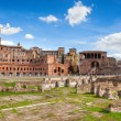 Ruins of Roman Forum in Rome - Stock Photo